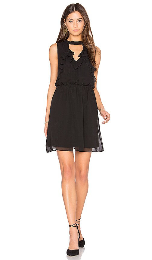BCBGeneration Ruffle Front Dress in Black