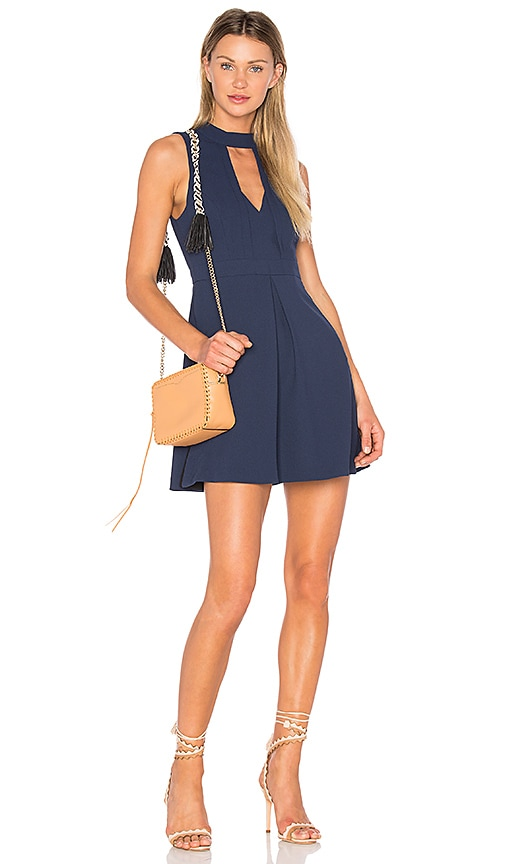 BCBGeneration Mock Neck Dress in Navy