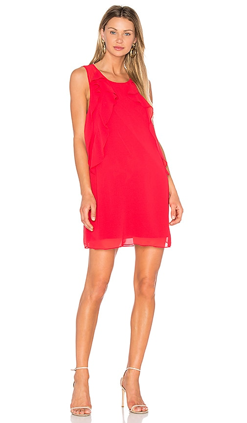 BCBGeneration Ruffle Dress in Red