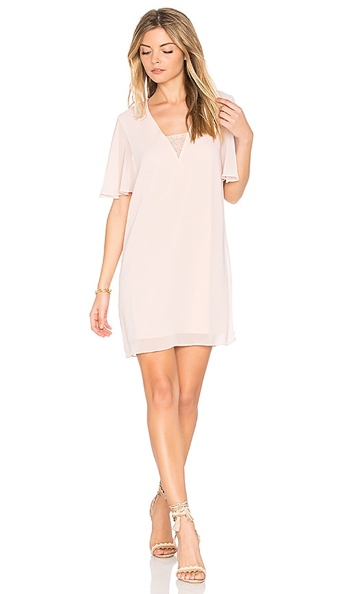 BCBGeneration Deep V Dress in Pink