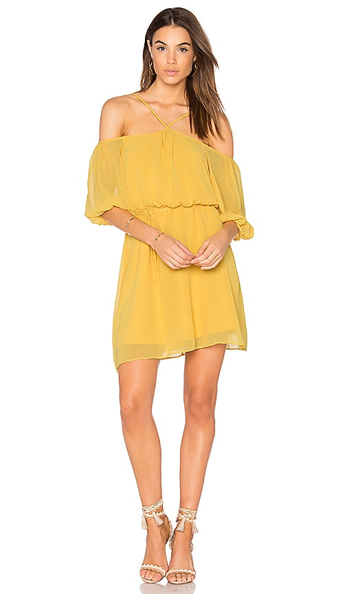 BCBGeneration Blouson Dress in Yellow
