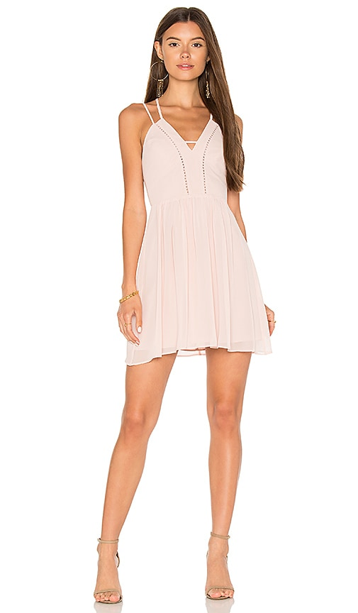 BCBGeneration Strappy V Dress in Rose