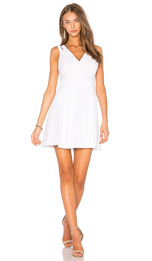 BCBGeneration Lace Mix Dress in White