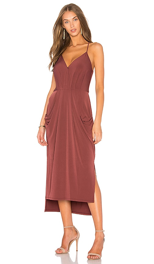 BCBGeneration Slit Midi Dress in Red