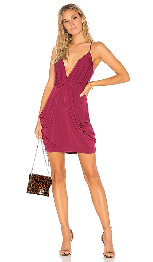 BCBGeneration Draped Dress in Wine