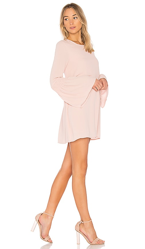 BCBGeneration Smocked Sleeve Shift Dress In Rose Smoke