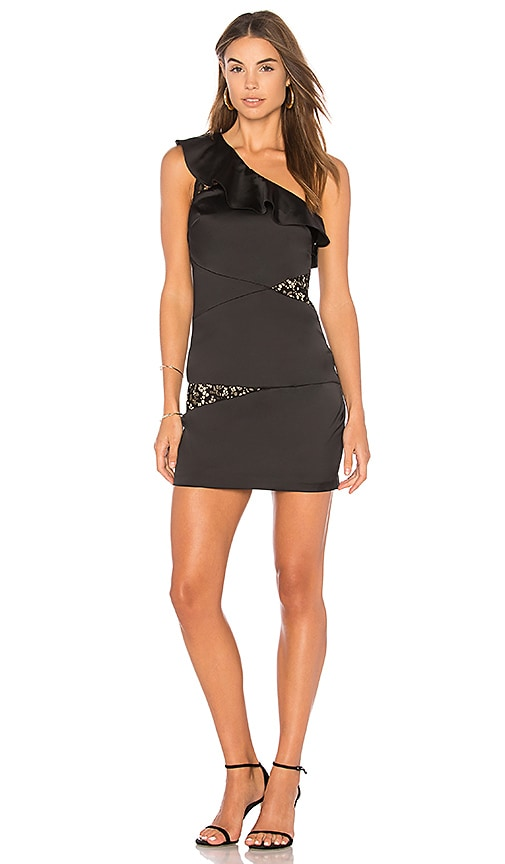 BCBGeneration Asymmetrical Dress In Black