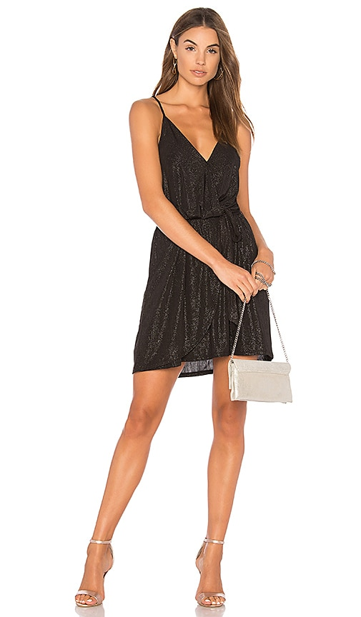 Top BCBGeneration Surplice Dress In Black in Black supplier