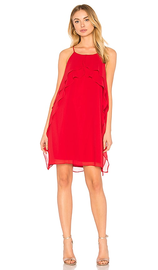 BCBGeneration Ruffle Dress In Chili Pepper