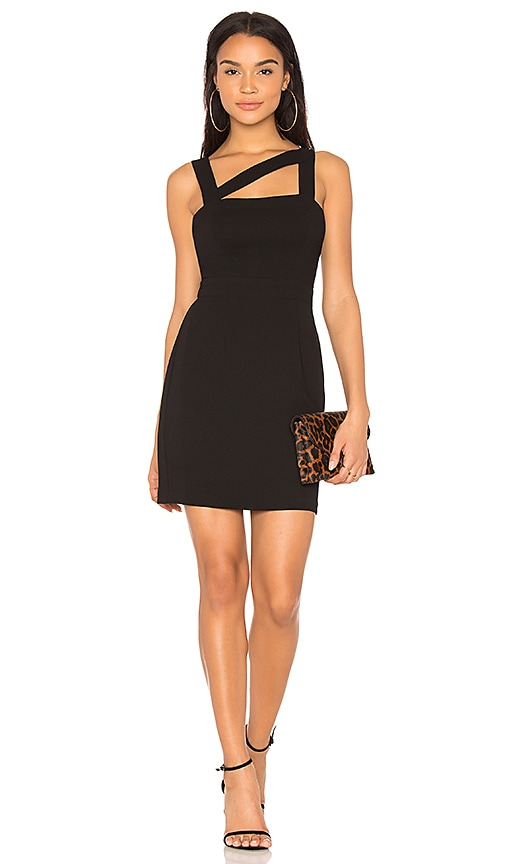 BCBGeneration Cut Out Mini Dress in Black