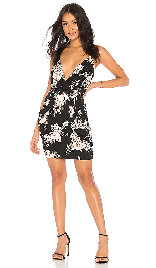 BCBGeneration Faux Wrap Dress in Black
