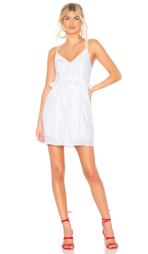 BCBGeneration Ruffle Dress in White