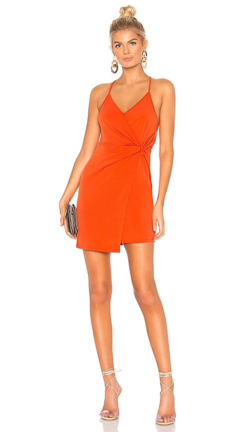 ce5ab214ee0 BCBGeneration Twist Wrap Surplice Dress in Saffron