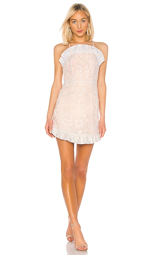 BCBGeneration Ruffle Hem Mini Dress in Pink | REVOLVE