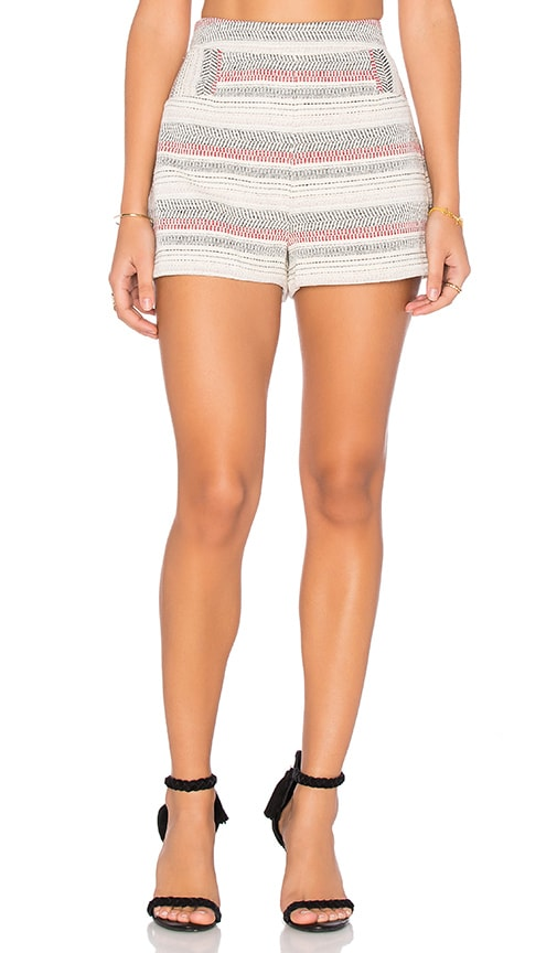 BCBGeneration Stripe Crochet Short in Ivory