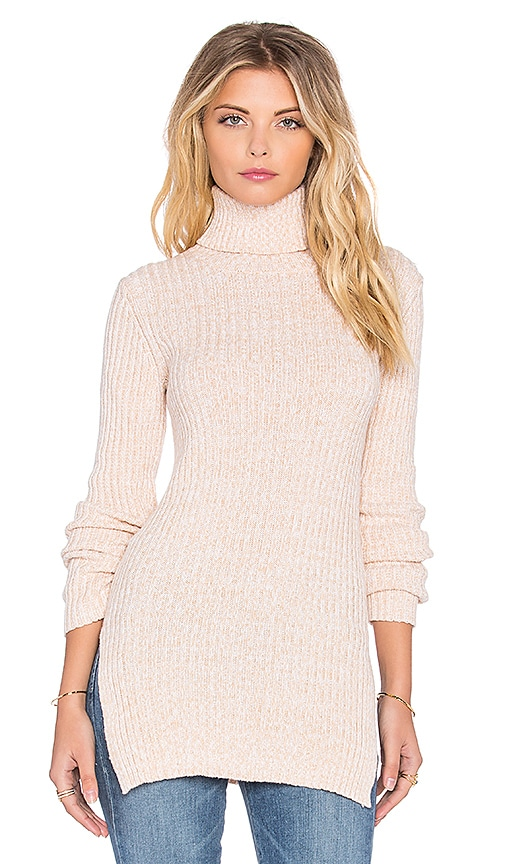 BCBGeneration Rib Crew Tunic in Nude Combo