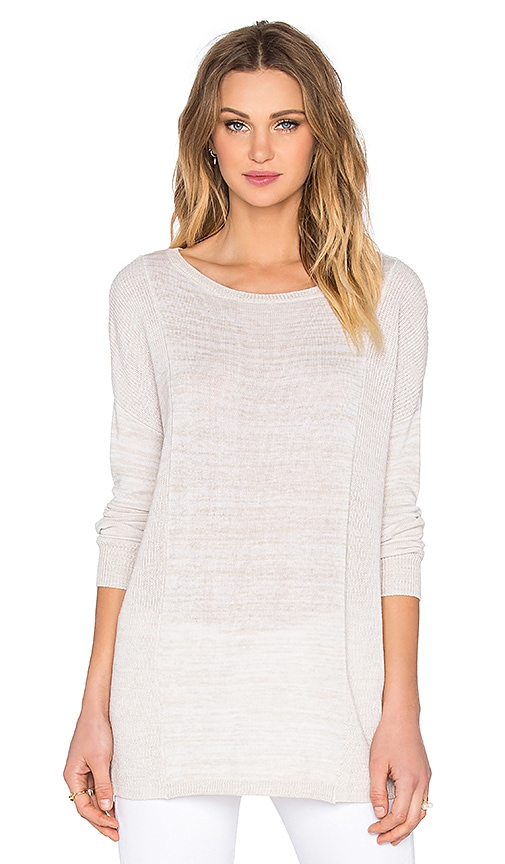 BCBGeneration Colorblock Sweater in Heather Nude Combo