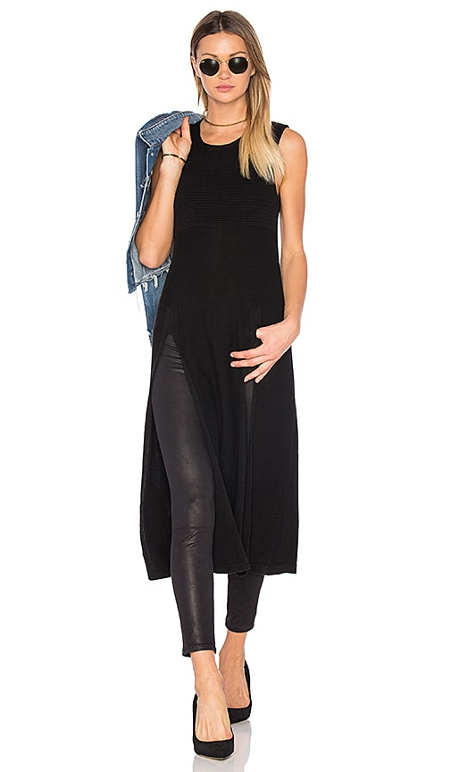 BCBGeneration High Slit Top in Black