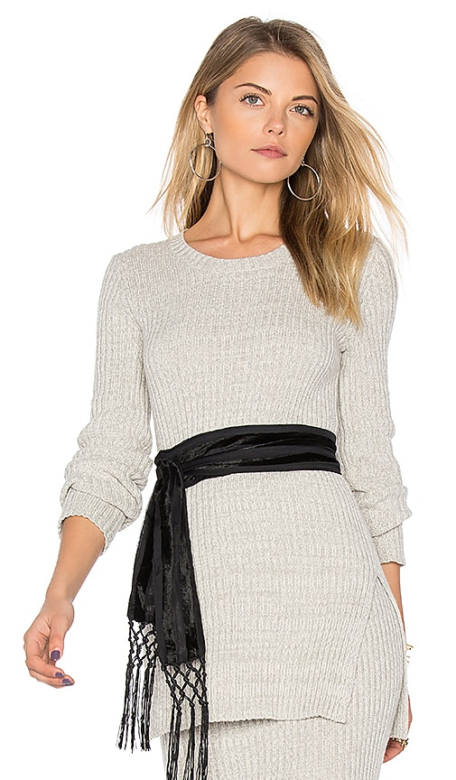 BCBGeneration Split Sweater in Gray