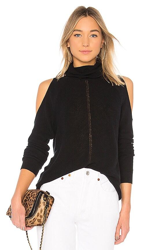 BCBGeneration Cold Shoulder Sweater in Black