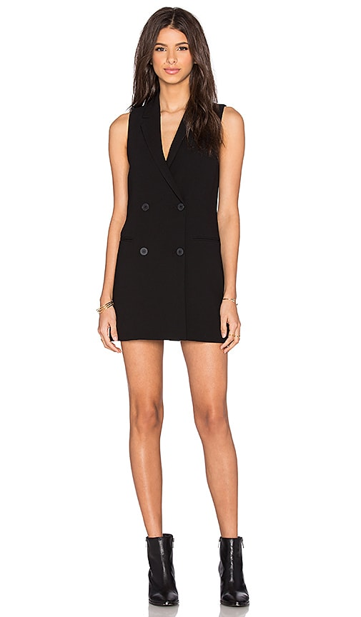 BCBGeneration Tuxedo Vest in Black