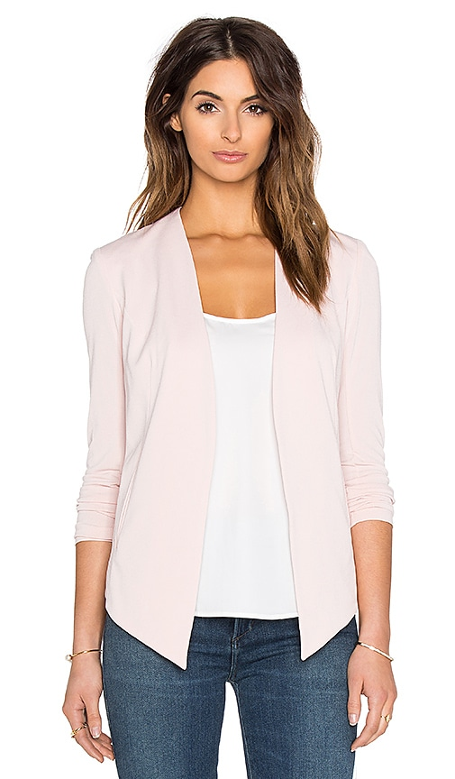 BCBGeneration Drape Front Jacket in Blush
