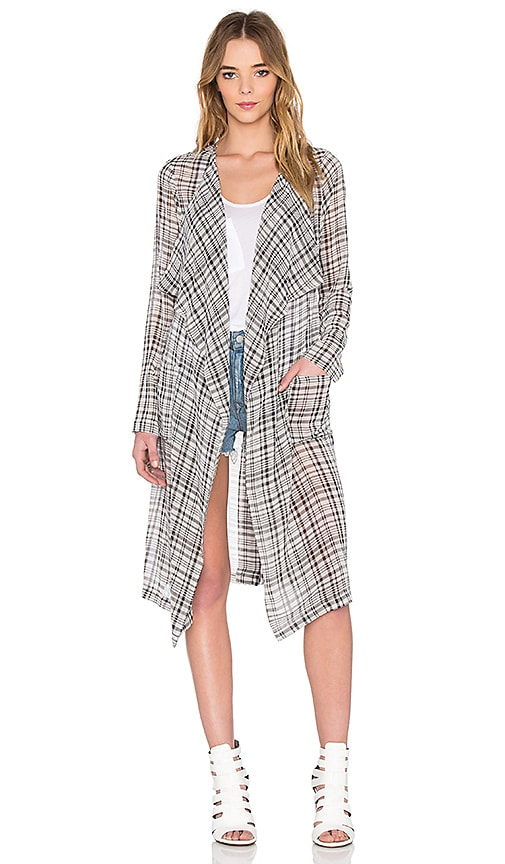 BCBGeneration Kimono Trench in Black Combo