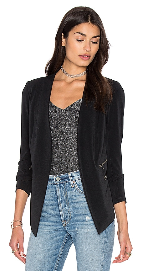 BCBGeneration Open Front Jacket in Black