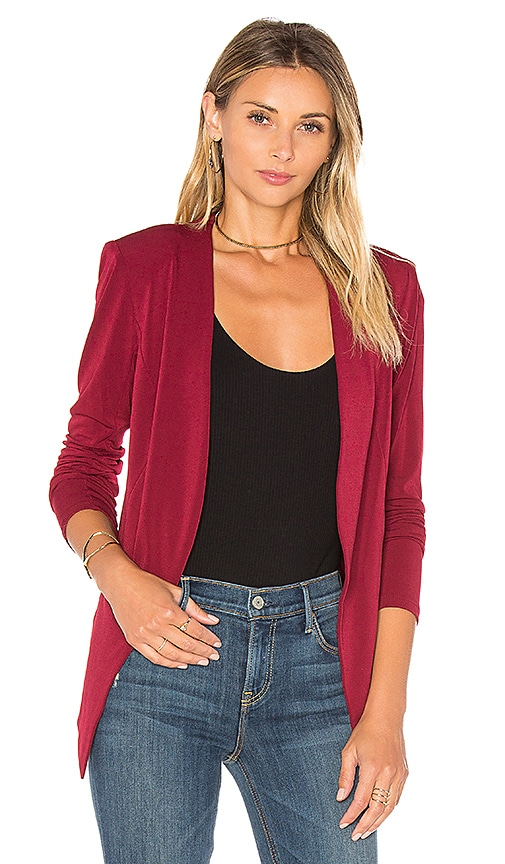 BCBGeneration Open Front Jacket in Red