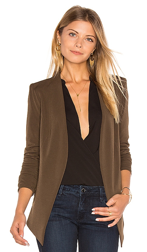 BCBGeneration Tuxedo Blazer in Chocolate