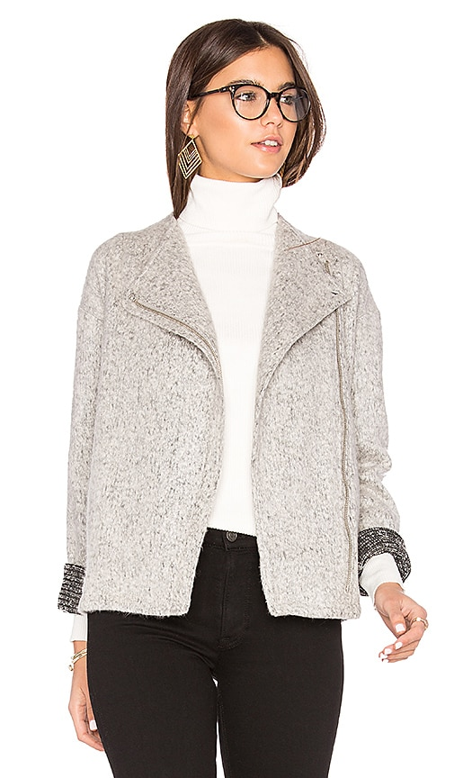 BCBGeneration Asymmetric Zip Jacket in White