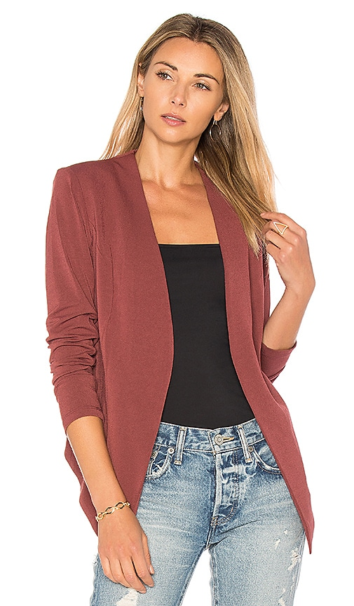 BCBGeneration Tuxedo Blazer in Red