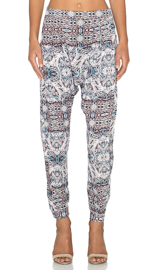 BCBGeneration Drop Crotch Pant in Sea Coral Combo