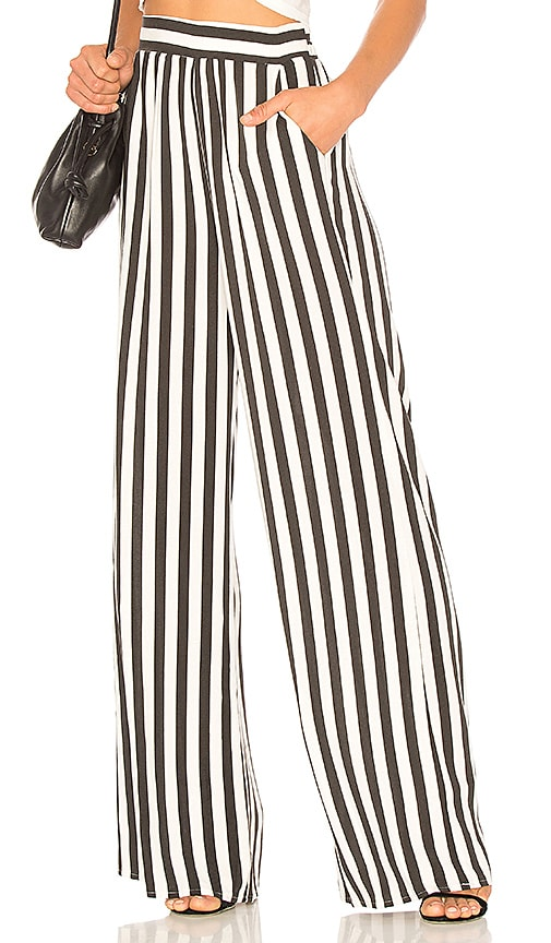 Palazzo Pant In Black Combo