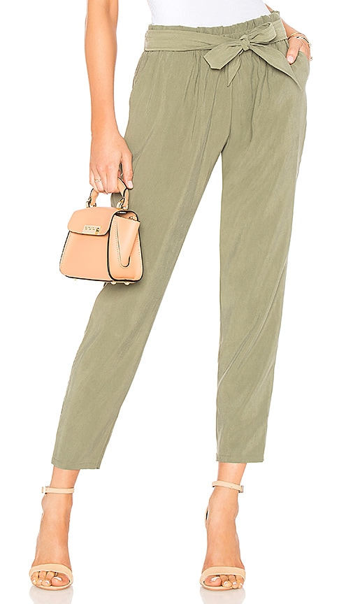BCBGeneration Self Tie Pant In Dusty Olive