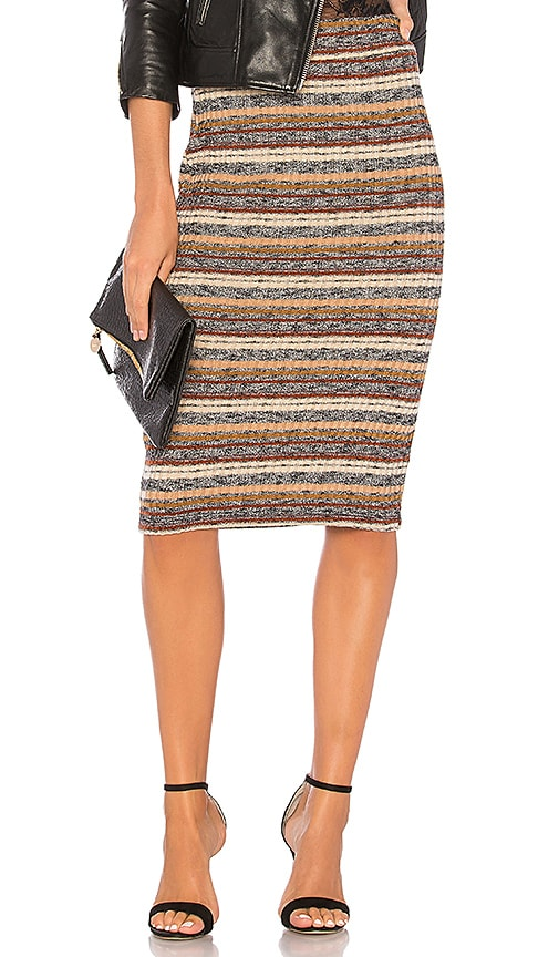 BCBGeneration Midi Pencil Skirt In Black Multi