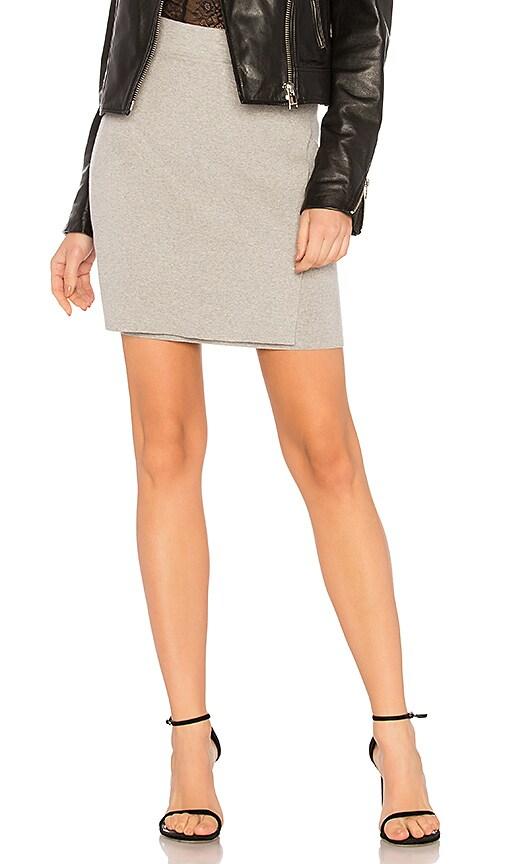 BCBGeneration Full Needle Mini Wrap Skirt In Light Heather Grey
