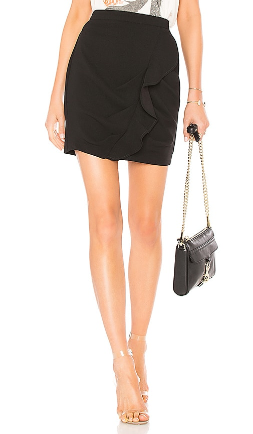 BCBGeneration Ruffle Mini Skirt In Black