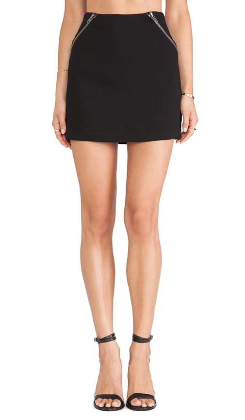 Zipper Detail Mini Skirt