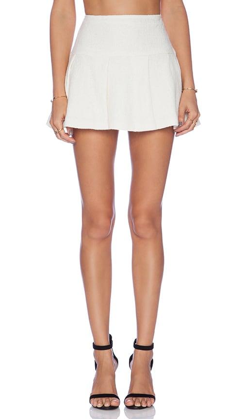 BCBGeneration Pleated Mini Skirt in Whisper White