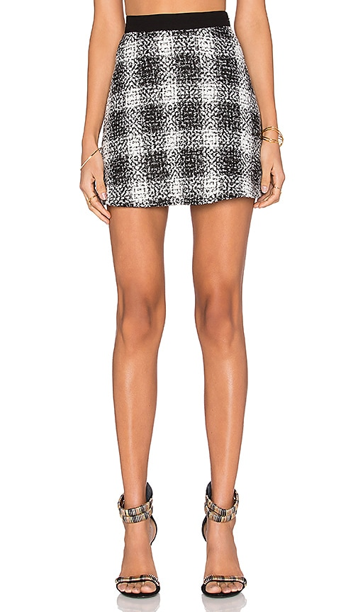 BCBGeneration Tweed Skirt in Black Combo