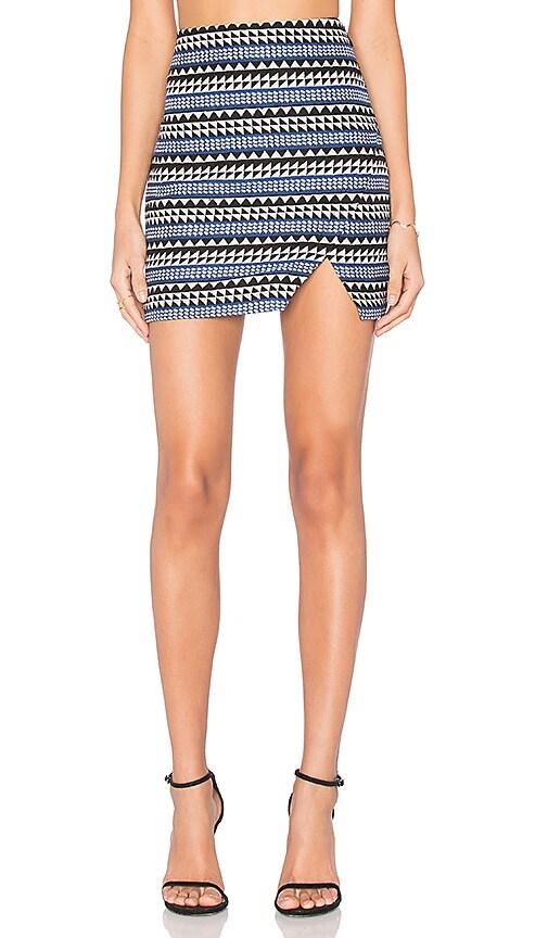 BCBGeneration Slit Mini Skirt in Academy Blue Combo