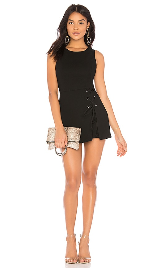 Lace Up Skirt Overlay Romper