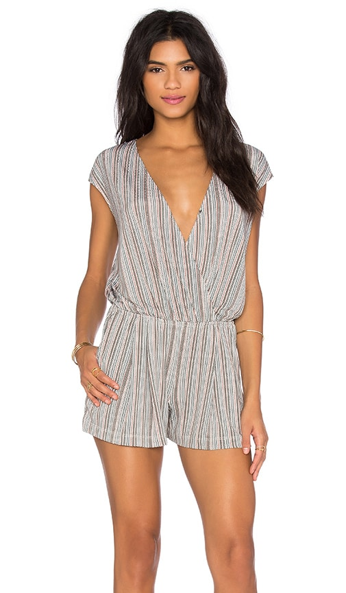 BCBGeneration Cross Front Romper in Canyon Clay