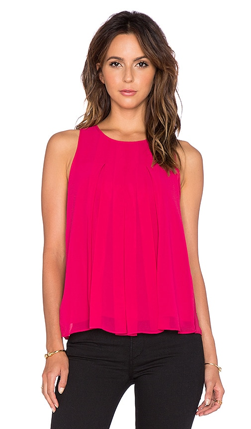 BCBGeneration Pleated Tank in Sangria