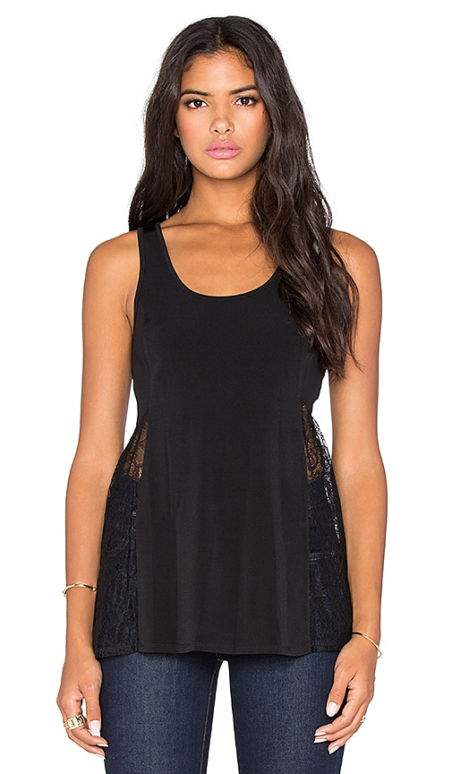 BCBGeneration Lace Tank in Black