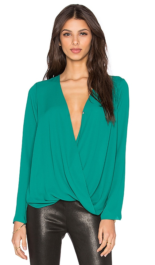 BCBGeneration Crossover Top in Green