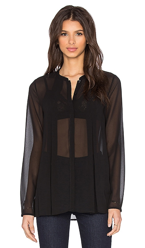 BCBGeneration Cape Blouse in Black