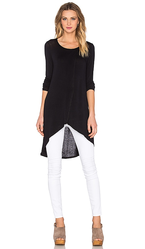 BCBGeneration Long Layered Top in Black