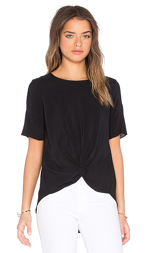 BCBGeneration Front Knot Top in Black